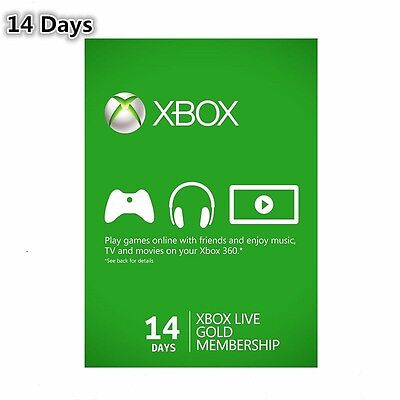 XBOX LIVE 14 DAY (2 WEEKS) GOLD TRIAL MEMBERSHIP  FAST DELIVERY