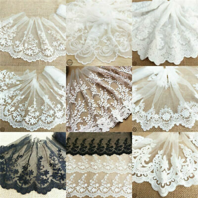 1yard DIY embroidered daisy flower applique costume decor lace sewing trim J/&S
