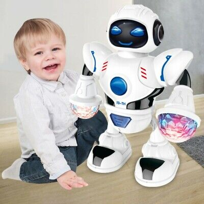 - Kids Baby Dancing Musical Robot Toy Boys Rotating Smart Toys Xmas Gifts US