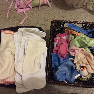 Cloth diapers- various brands, fits and styles