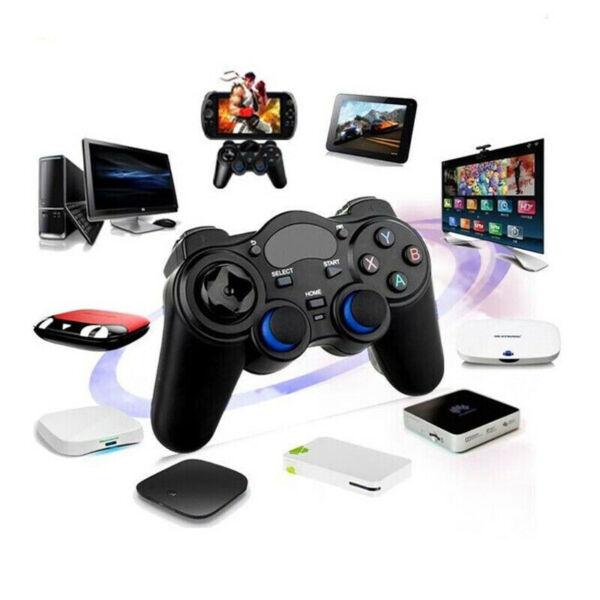 2.4G Wireless Controller Gamepad + Micro USB OTG Converter For PS3, Android Phone, Tablet, PC, TV