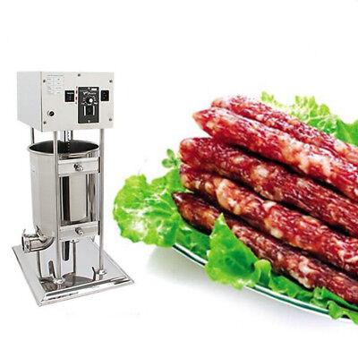 110v 10l Commercial Electric Sausage Stuffer Meat Filler Filler Stainless Steel