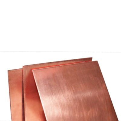 1pc 100mm 100mm X 0.8mm 99.9 Pure Copper Cu Metal Sheet Plate Freeship