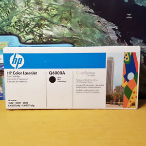 HP 124A Q6000A Black Toner Cartridge~1600 2600 2605 CM1015 CM101