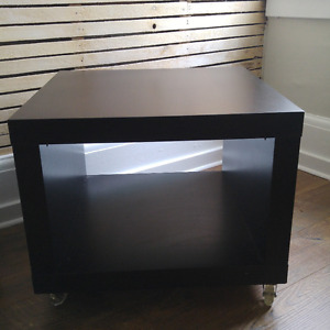 IKEA Black-Brown Side Table on Casters