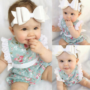 Recien-Nacido-Infantil-Trajes-bebe-nina-ropa-encaje-de-flores-Mono-Mono-Mono