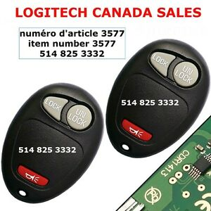 Keyless Entry Remote Chevrolet GMC Hummer Isuzu