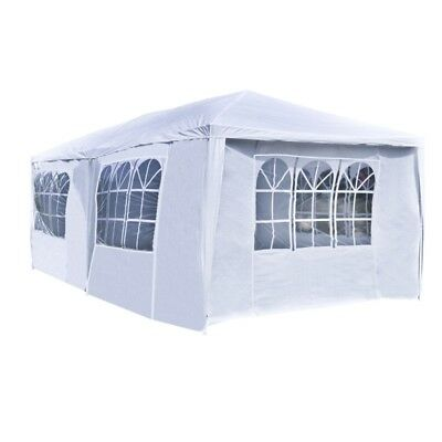 ALEKO Shelter Canopy Picnic Gazebo Party Tent Carport 20 x 10 Ft White, used for sale  Shipping to South Africa
