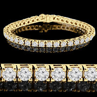14k Gold Diamonds Tennis Bracelet 3.25CTW Bracelet en Diamants