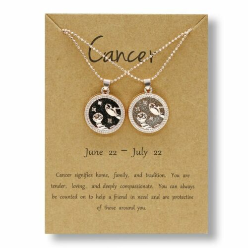 12Constellation Day  Night Star Zodiac Sign Necklace Pendant Gold Silver Choker