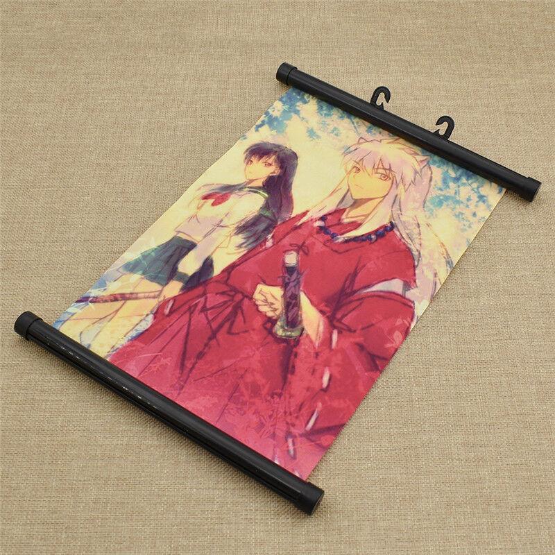 Decor Scroll Poster Anime Inu Yasha Printed  20*30cm Room Decoractive Posters