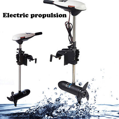 65lb Hangkai Electric Trolling Outboard Motor Inflatable Fishing Boat Engine 12V