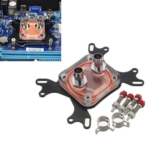 per PC CPU RAFFREDDAMENTO ACQUA blocco COPPER BASE COOL INTERNO CANALE AMD 5cm