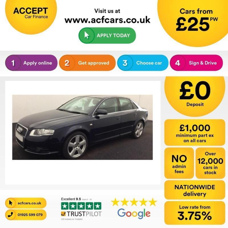 Audi A4 2.0TDI 2007MY S Line FROM £25 PER WEEK!