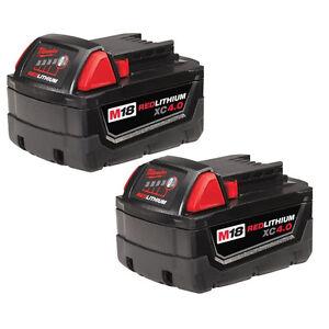 Milwaukee M18 REDLITHIUM XC 4.0 Extended Capacity Battery (2 Pac