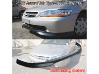 TR Style Front PU + OE Style Rear Bumper Lip Fit 98-00 Accord 2dr PP