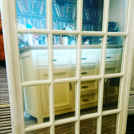 Vintage white window style mirror new