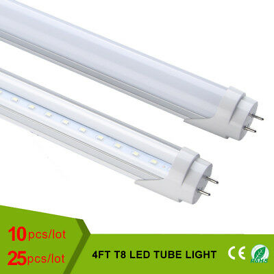 T8 LED Tube 18W 4ft 4000K 6500K Lamp 40W Fluorescent Replacement Lights AC110V