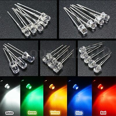 10pcs 100pcs 300pcs 3mm5mm 5 Color Water Clear Led Diodes Assortment Lamp Diy