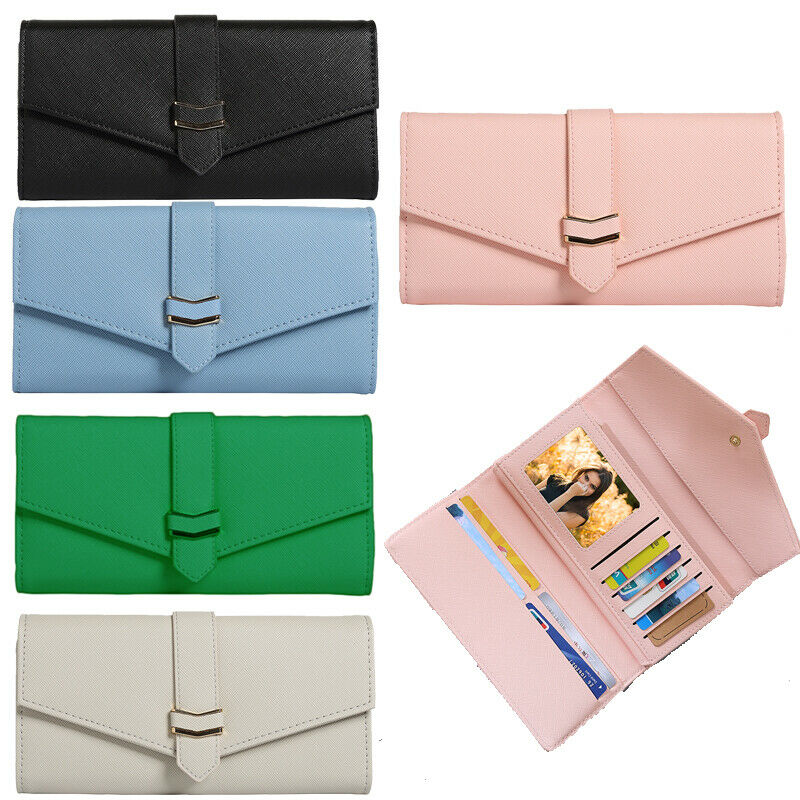 Womens Long Wallet Clutch RFID Blocking Credit Card Holder Money Purse Handbag Clothing, Shoes & Accessories