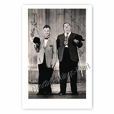 Stan Laurel and Oliver Hardy / Dick und Doof - Autogrammfotokarte [A1] 