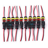 10 kit Waterproof AC/DC Power Female & Male 2Pin 2Way Cable Connector AWG Marine