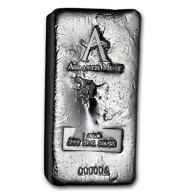 1 kilo Silver Bar - Atlantis Mint (Poured, w/Serial #) - SKU #150989