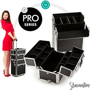 NEW Large Professional Cosmetic Makeup Travel Case Portable Beauty Organiser Box