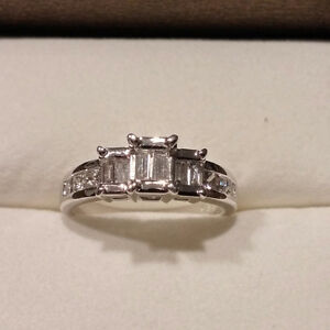 Bague femme diamants OR 14K women white gold diamond ring