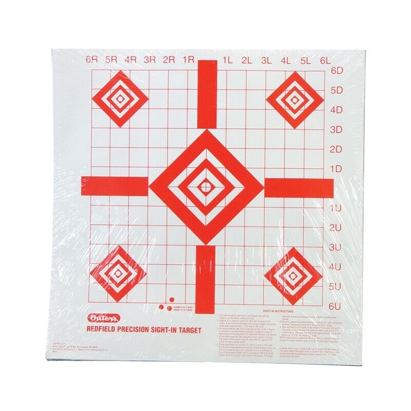 "Champion Redfield Style Precision Sight-In Target 16"" x 16"" 100 per Pack  47387"