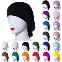 Mujer Modal Musulmán Hijab Tapa Bajo Bufanda Gorro Tocados Sombreros Pañuelo -  - ebay.es