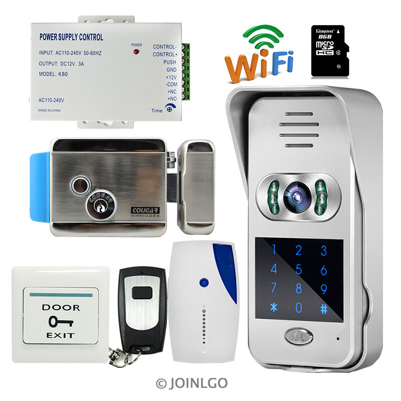 Wireless wifi ir code keypad video intercom door phone for Door intercom