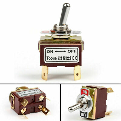 4pcs Toowei 2 Terminal 4pin On-off 15a 250v Toggle Switch Boot Dpst Grade Ca