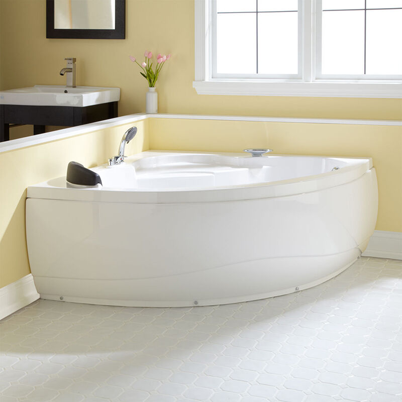 Tips to increase the lifespan of a corner bath ebay - Contemporary corner soaking tubs ...