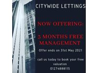 Citywide Lettings Managment and 3-5 YEAR RENTAL GUARANTEE!