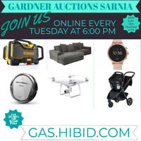Online Auction Every Tuesday Night!