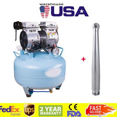 Usa Dental Silent Noiseless Oilless Air Compressor Bd-101a High Speed Handpiece