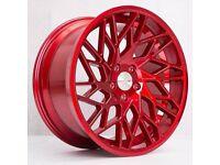 "19"" Veemann V-FS29R Candy Red for VW Audi Seat Etc"