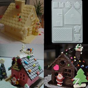3D DIY Christmas Cake House Fondant Chocolate Mould Xmas Cake Cutter Mold Decor