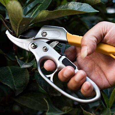 Poda Tijeras de Profesional Trinquete Yunque Jardín Acero Carbón