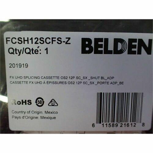 Belden FCSH12SCFS-Z Splicing Cassette, 12-Ports