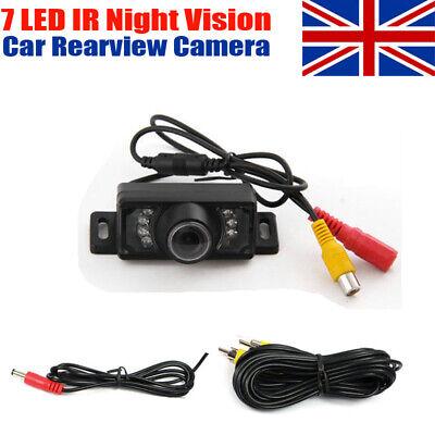 7 LEDs IR 12V Waterproof Color Car Reverse Rear View Reversing Parking Camera