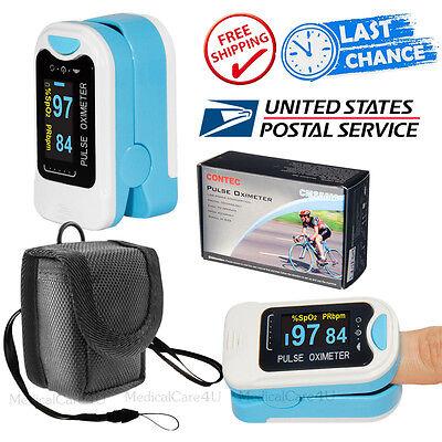 Fda Usa Fingertip Pulse Oximeter Oled Blood Oxygen Saturation Spo2 Pr Hr Monitor