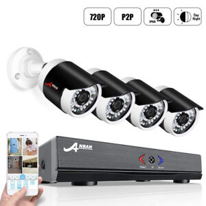 Brand New AHD Security Camera System 4CH 720p Home Video Surveil