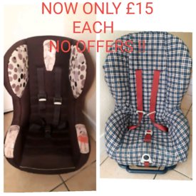 Car seat NOW ONLY £15 EACH