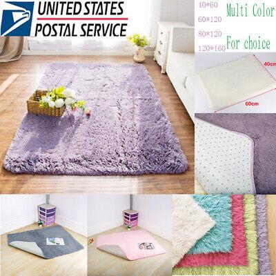 Soft Modern Area Shag Rug Contemporary Fluffy Long Pile Thick Carpet Large Mat A](Long Carpet)