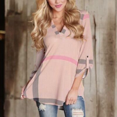 Womens Lady Loose Long Sleeve Casual Blouse Shirt Tops New Fashion Blouse