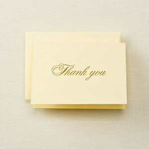 Crane & Co. Gold Hand Engraved Thank You Notes (CN1716)