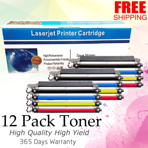12 Pk Color Clt-k406s Toner For Samsung Clp-365w Clx-3305...