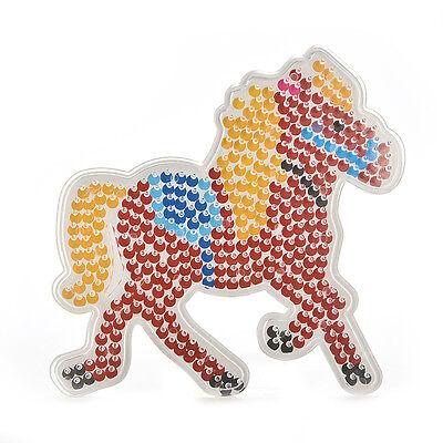 1 Pcs Pegboards RAr DIY Beads Hama Fuse Beads Clear Horse Design Board gh ()